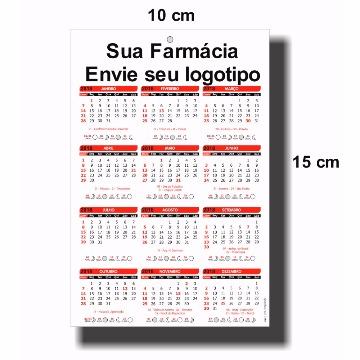 1000 Folhinhas Calendário - 10x15 cm - Couche 300g - Verniz Uv Brilho