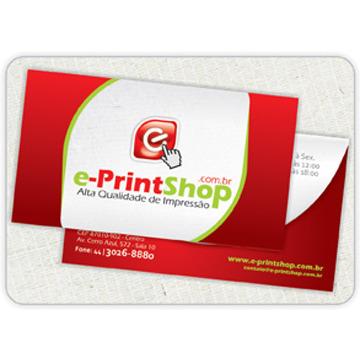 Cartão de Visita 4x4 - Qualidade Fotográfica -  Frente/Verso. (Cor: 4X4 Cores)