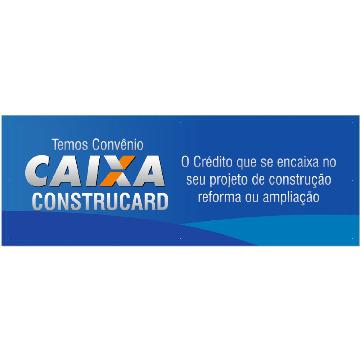 CONSTRUCARD ® - 1 Faixa em Lona com Ilhós. ( Tamanho: 100 cm x 300 cm)