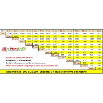 Etiquetas em VINIL Adesivo TRANSPARENTE - com meio-corte Personalizado