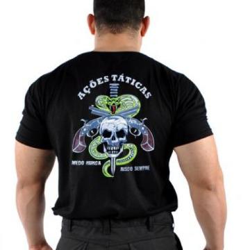 Camiseta Ações Táticas - Preta