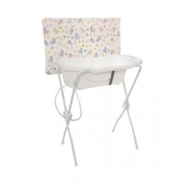 Banheira com trocador Floripa (Branca) - Tutti Baby