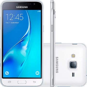 Smartphone Samsung Galaxy J3 Dual Chip Desbloqueado Android 5.1 Tela 5´´ 8GB 4G Wi-Fi Câmera 8MP - Branco