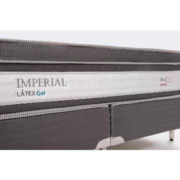 049637ef6 Cama Box Casal Queen Imperial Látex Gel Miracoil Reconflex (59x158x198) -  Feira Móveis