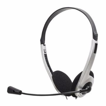 Headset Lite HB101 Prata e Preto 52568