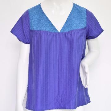 Blusa Cléo Floral Azul