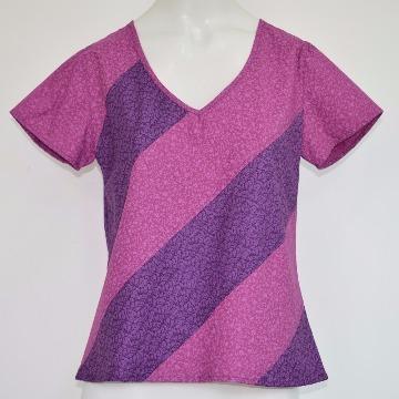 Blusa Diagonais Violeta