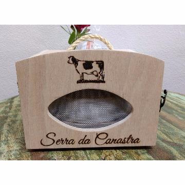Caixa de Madeira para 1 Queijo  - Serra da Canastra