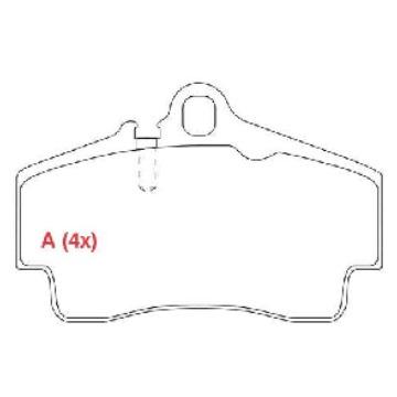 JOGO PASTILHA FREIO TRASEIRA AUDI Q7 3.6 V6 4.2 V8 07/... - PORSCHE 911 97/05 - VW TOUAREG 4.2 ARO 18 02/07 - TOUAREG 6.0 ARO 18 - SYL1560 - PW835