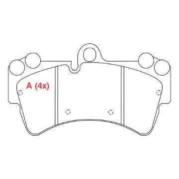 JOGO PASTILHA FREIO DIANTEIRA AUDI Q7 3.6 - 4.2 V8 06/... - PORSCHE CAYENNE 3.2 V6 02/09 - VW TOUAREG ARO 18 02/... - HQ4001 - SYL1414 - PW860