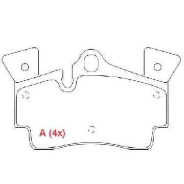 JOGO PASTILHA TRASEIRA AUDI Q7 3.6 V6 4.2 V8 07/... - PORSCHE CAYENNE 3.2 - 4.5 V8 03/... TURBO - VW TOUAREG 4.2 ARO 18 02/07 - TOUAREG 6.0 ARO 18 05/... - PW836