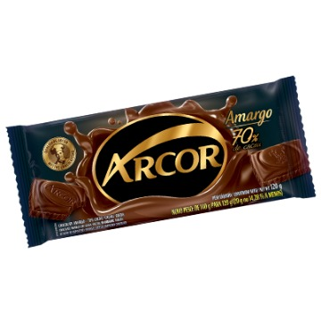 BARRA CHOCOLATE MEIO AMARGO 140G ARCOR