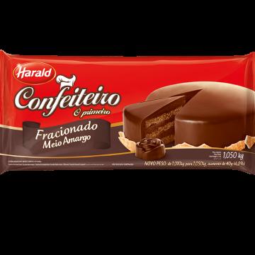 HARALD CONFEITEIRO COB BARRA SABOR CHOCOLATE MEIO AMARGO 1,05KG