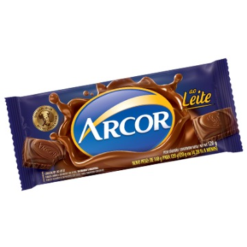 BARRA CHOCOLATE AO LEITE 140G ARCOR