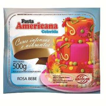 PASTA AMERICANA COLORIDA ROSA BEBE