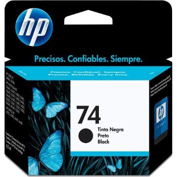 Cartucho de Tinta HP 74 CB335WB Preto | Photosmart C4480 C4280 C5280 | Original 4,5ml