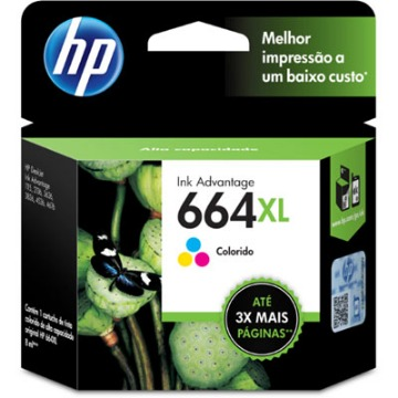 Cartucho de Tinta HP 664XL 664 Color F6V30AB F6V30A | 1115 2136 3636 3836 3635 4676 | Original 8ml
