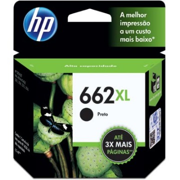 Cartucho de Tinta HP 662XL 662 CZ105AB CZ105AL Preto | Original 6,5ml
