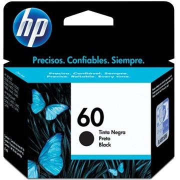 Cartucho de Tinta HP 60 CC640WB Preto | D1660 F4280 F4480 | Original 4,5ml