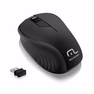 MOUSE WAVE SEM FIO 2.4GHZ PRETO USB - MULTILASER