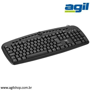 TECLADO MULTIMÍDIA USB FORTREK MKL-101