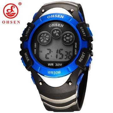 ef8edbd7d70 Relógio Digital Pulso Led Esportivo Infantil NT Amarelo - BWorld Sales