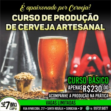 CURSO BÁSICO PRODUÇÃO DE CERVEJA 01/09/2019