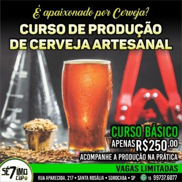 CURSO BÁSICO PRODUÇÃO DE CERVEJA - 29/03/2020