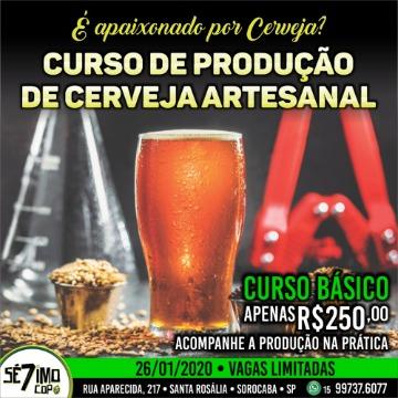 CURSO BÁSICO PRODUÇÃO DE CERVEJA - 26/01/2020