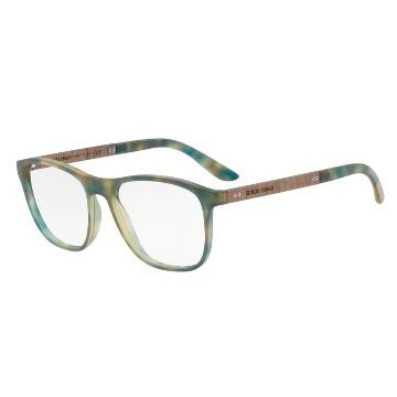 9c0a77c5b59e7 Óculos de Grau em Acetato com detalhes em Madeira Giorgio Armani