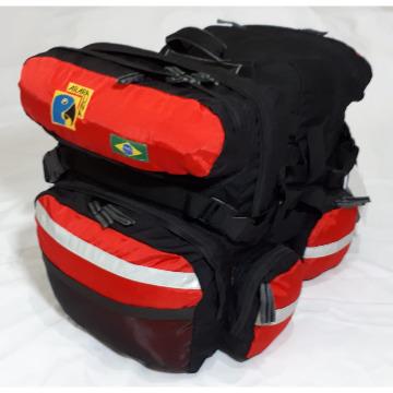 Alforje 50L - Arara Una - Vermelho e Preto