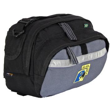 Bolsa de Guidão 9L - AraraUna - Cinza e preto