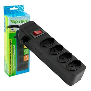 Régua extensora 4 Tomadas Green Bivolt - Chip SCE 075-9514