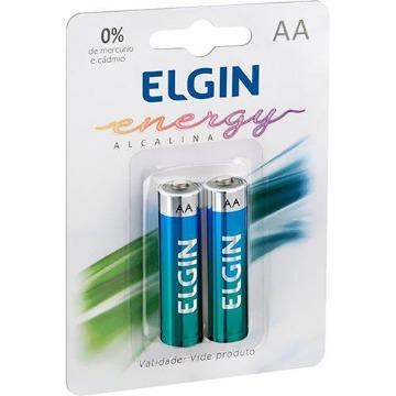 Pilha Alcalina AA Elgin 1.5V C/ 2
