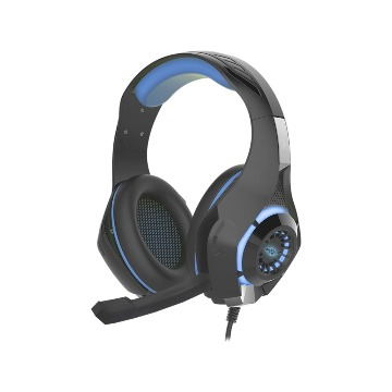Headset Gamer K-Mex Microfone AR-S406 LED Azul