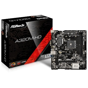 Placa Mãe AsRock A320M-HD Micro ATX (AM4) DDR4