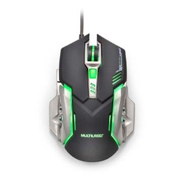 Mouse Gamer Multilaser 2400DPI Preto e Grafite com LED – MO269