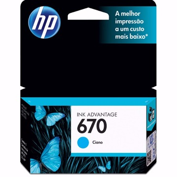 Cartucho HP 670 Colorido Ciano
