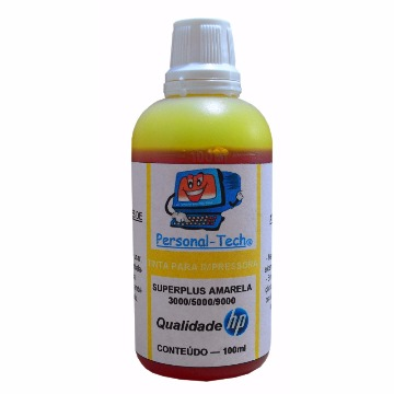 Tinta HP SuperPlus Amarela Personal-Tech - 100ml