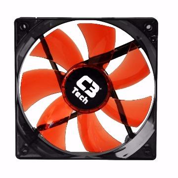 Cooler (Gabinete) C3Tech F7-L100RD 120X120X25MM Led Vermelho