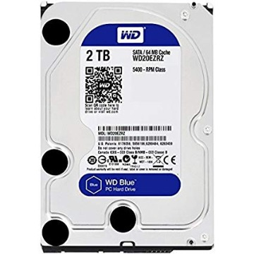 HDD Western Digital 2TB Sata 6.0GB/S WD20EZRZ 64MB 5400 RPM