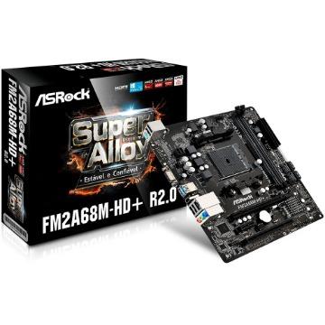 Placa-Mãe ASRock p/ AMD FM2+ mATX FM2A68M-HD+ R2.0 DDR3