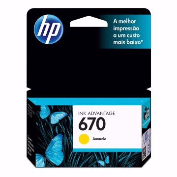 Cartucho HP 670 Colorido Yellow
