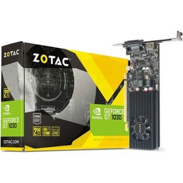 Placa de Vídeo Zotac GeForce GT 1030 2Gb 64Bits PCI-EX 3.0 GDDR5 SL-DVI-D+HDMI ZT-P10300A-10L