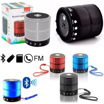 Caixa de Som WS-887 Bluetooth, MP3, FM, Chamada