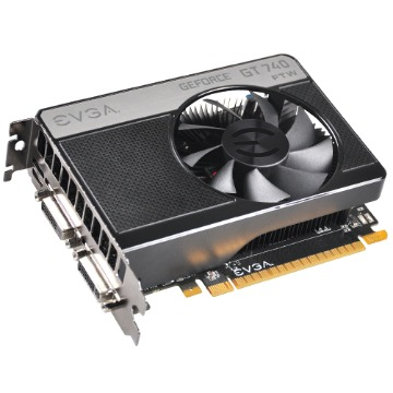Placa de Vídeo PCI-Ex GT740 1Gb DDR5 128Bits GeForce - EVGA
