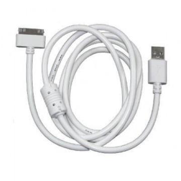 Cabo de Dados 30 pinos para iPhone, iPod, iPad Branco 1,5m