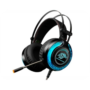 Headset Gamer K-Mex Mic ARS9 Preto LED RGB