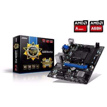Placa Mãe MSI A68HM-E33 - DDR3 - FM2/FM2+