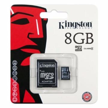Cartão de Memoria Kingston SDC4/8GB Micro + 1 Adaptador SDC4/8GB